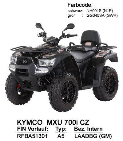 Ersatzteile MXU 700i (LAADBG nur CZ)