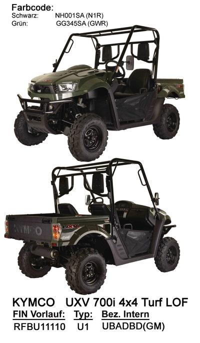 Ersatzteile UXV 700i 4x4 Turf / UXV 700i 4x4 Turf LOF