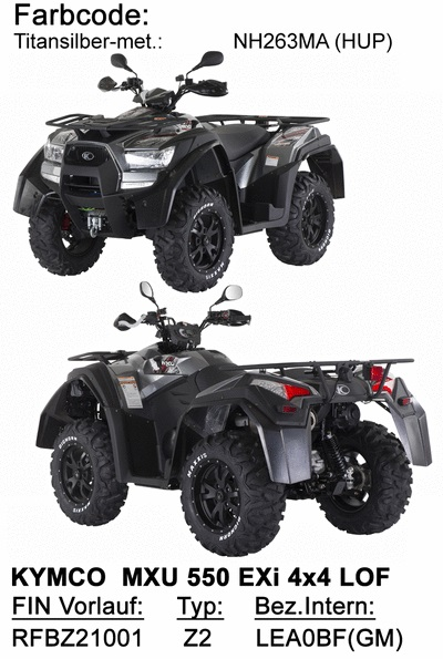 Ersatzteile MXU 550 EXi LOF