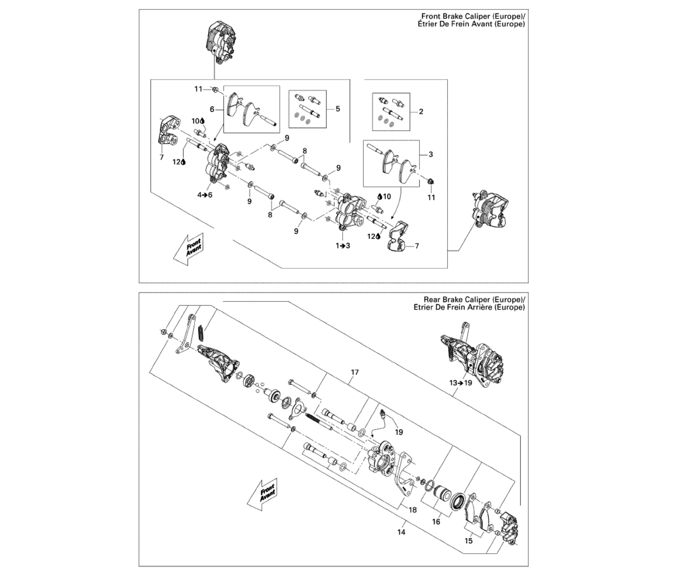 Bremssattel | Motor & Rahmen | DS 450 CE STD & X | 2009 ...