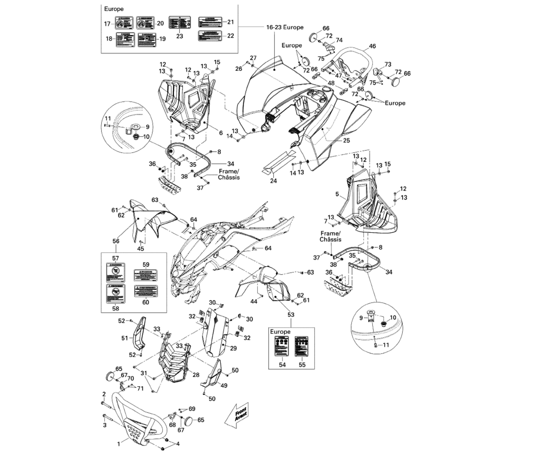 Verkleidung 1 X | Motor & Rahmen | DS 450 CE STD & X | 2009 ...