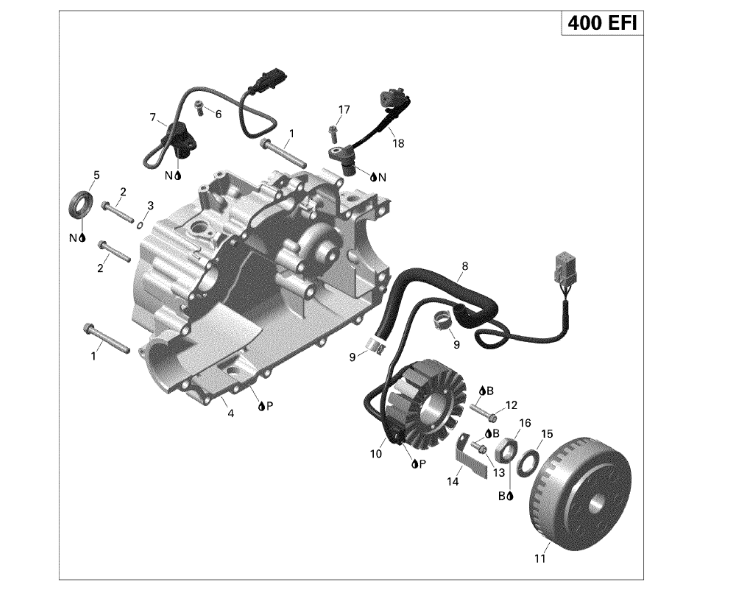 Lichtmaschine | Motor & Rahmen | Outlander 400 EFI | 2010 ...