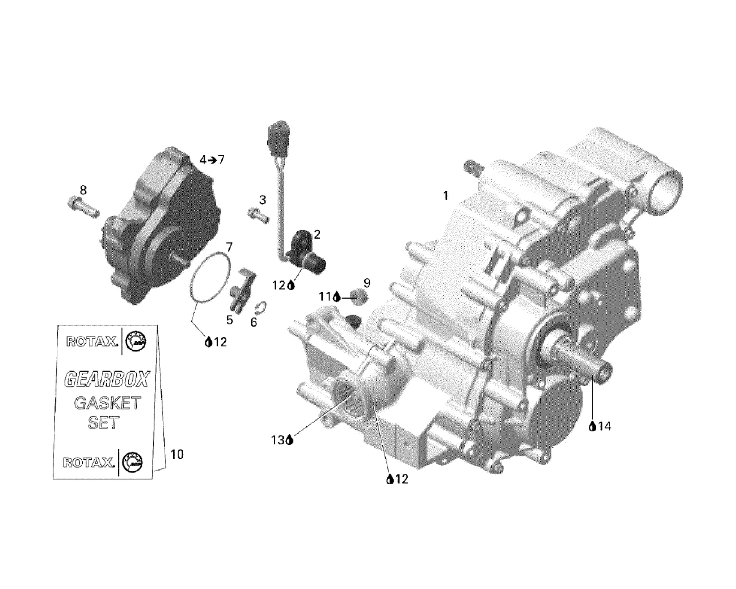O Ring Lubricant >> Getriebe 1 | Motor & Rahmen | Outlander 800 STD | 2006 | Ersatzteile Can-Am Outlander 800 ...