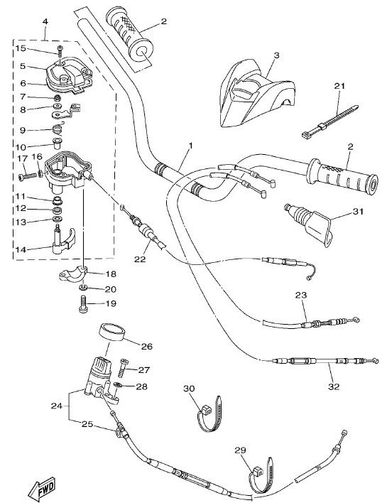 Lenker & Kabel | Rahmen & Anbauteile | 2016 | Ersatzteile Yamaha YFM ...